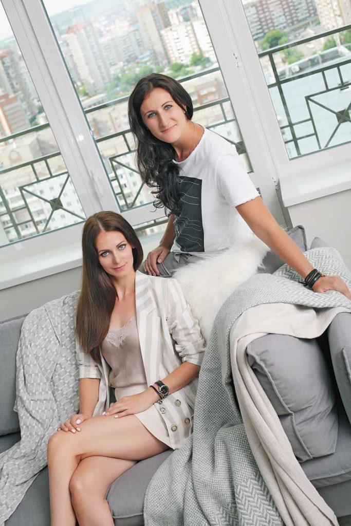 Нина Денисевич и Евгения Шмидт-Красевич